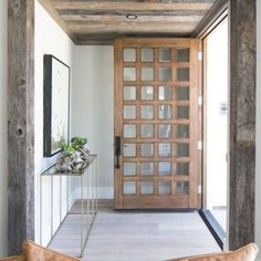 BECKI OWENS- Exterior Design Trend: Light Wood Doors