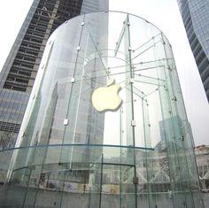 Diventa un brevetto il cilindro di vetro dell'Apple Store di Shanghai