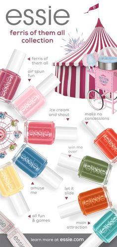 New Nail Polish, Nail Polish Designs, Nail Designs, Essie Colors, Nail Colors, Emoji Nails, Romantic Nails, Edge Nails, Cat Eye Gel