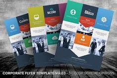 Here's the third version of the corporate style flyer templates. These flyer templates contains three color scheme options with flat design in mind.