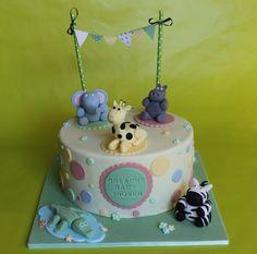 Jungle animals cake - by Daisyblue002 @ CakesDecor.com - cake decorating website