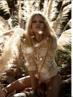 Anna Ewers for Vogue Germany March 2015 - Valentino Spring 2015