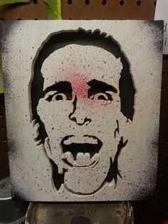 American Psycho Patrick Bateman wood cutout by KevinsCutouts, $40.00