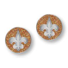 Saints Glitter Post Earrings #Saints #NOLA #Jewelry