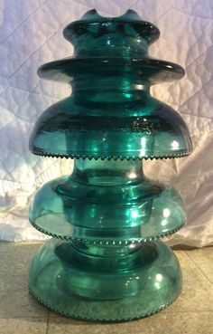 This is my cd Montana Stacker Hemingray 79 glass insulator in blue aqua. This is a fairly rare insulator. It is 3 pieces. It is a high voltage insulator. Glass Insulators, Electrical Supplies, Antique Glass, Insulation, Carnival, High Voltage, Conductors, Crystals, Antiques
