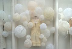 Lace balloons. Like this better than the lanterns.