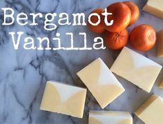 Bergamot Vanilla Soap Recipe combines bergamot essential oil and vanilla essential oil to create a creamsicle type scent- Heaven. #homemade #diy #soapmakingsupplies