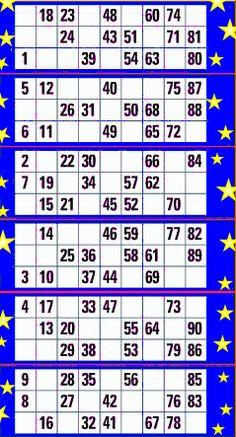A bola 90 #bingoonline é jogado no Reino Unido é jogado no bingo ingressos consistem em 15 números no bilhete