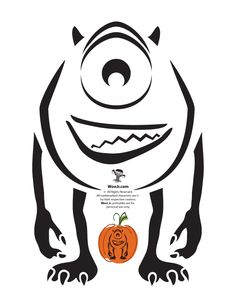 mike wazowski pumpkin template - pumpkin stencils disney pumpkin carving patterns