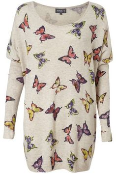 Butterfly Oversized Jumper on Womens Clothing