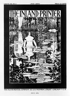 Cover art for the July 1894 edition of The Inland Printer by William Henry Bradley