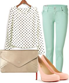 """Pastels and Dots"" by jworton on Polyvore"