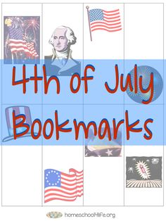 FREE Printable 4th of July Bookmarks