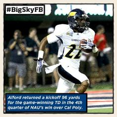 Oct. 28th - NAU's Marcus Alford is your ROOT SPORTS #BigSkyFB Co-Special Teams Player of the Week. #NAUTakeOver @NAU Alumni