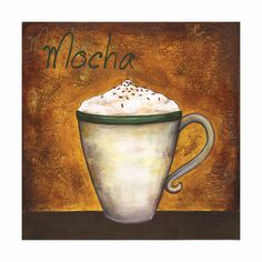 A Very Merry Deal For 4 Archival Giclée Coffee Art Prints Mocha Cappuccino  Espresso Cafe