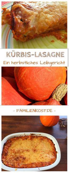 Rezept für vegetarische Kürbis-Lasagne