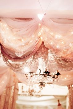 lace and fairy lights