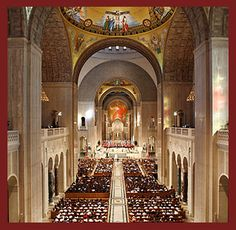 """The Basilica of the National Shrine of the Immaculate Conception is, as its mission states,""""a place of worship, pilgrimmage, evangelization and reconciliation."""" Open 365 days a year, the Basilica is a place where """"the faithful gather to worship God, give honor to Mary, and are sent to spread God's Word wherever they go. The Basilica """"invites people from across the country and beyone into the saving moment of faith, hope and charity."""" Thanks be to God. Amen"""