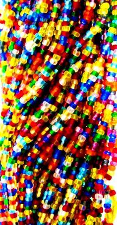 Rainbow color beads   (¯`'•.¸de l'arc-en-ciel¸.•'´¯)