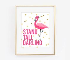 Pink Flamingo Stand Tall Darling Digital by LiviLouDesigns on Etsy