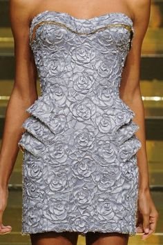 Another Versace silhouette cutout dress. Just gorgeous.