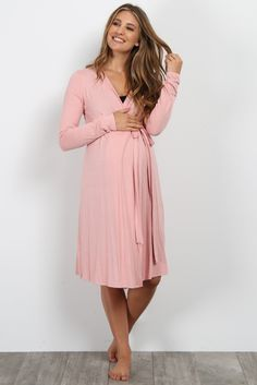 b66617f1ca Pink Bamboo Delivery Nursing Maternity Robe