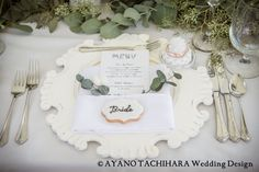 Hawaii,Sunset Ranch Wedding_ハワイウエディング_produced by AYANO TACHIHARA Wedding Design 席札、テーブルデコレーション