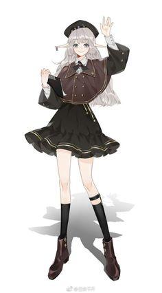 Pretty Anime Girl, Kawaii Anime Girl, Anime Art Girl, Character Concept, Character Art, Persona Anime, Anime Oc, Anime Outfits, Character Design Inspiration
