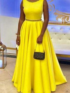 Silhouette:Expansion Dress Length:Floor-Length Sleeve Length:Sleeveless Neckline:Round Neck Combination Type:Single Waist Line:High Waist Closure:Pullover Elasticity:High Elasticity. Long African Dresses, Latest African Fashion Dresses, African Print Fashion, Africa Fashion, Dress Fashion, 80s Fashion, Fashion Ideas, Fashion Beauty, Fashion Outfits
