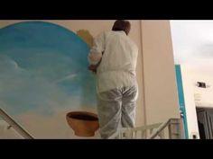 Trompe su parete dipinto a mano