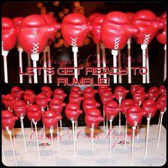 Boxing gloves cake pops