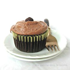 Chocolate Cupcakes w/ #Nutella-Peanut Butter Frosting