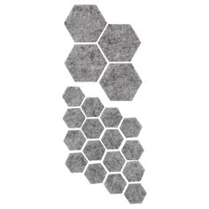 IKEA - FIXA, Stick-on floor protectors set of gray, Protects the underlying surface against wear and scratching. Clean the surface before attaching the floor protector. Hemnes, Wooden Furniture Legs, Recycling Facility, Bench With Shoe Storage, Tv Bench, Tv Storage, Ikea Family, Hexagon Shape, Packaging
