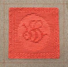 hand knit dishcloth, bumble bee, 100% cotton, hand knitted dish cloth, hand knit washcloth, hand knitted wash cloth, orange, knit dish cloth - pinned by pin4etsy.com