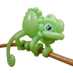 Lime Green Entries Balloon Chameleon Patrick van de Ven Apeldoorn, Netherlands