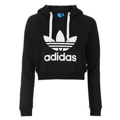 Cropped Hoodie by Adidas Originals ❤ liked on Polyvore featuring tops, hoodies, casacos, crop, outerwear, cropped hoodie, relaxed fit tops, adidas originals, crop top and hooded pullover