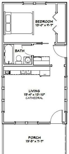 Super Kitchen Layout Small Floor Plans Tiny Homes Ideas House Layout Plans, Small House Plans, House Layouts, Guest House Plans, Shed House Plans, The Plan, How To Plan, Small Floor Plans, Cabin Floor Plans