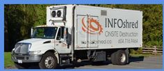 INFOShred's On Site Mobile Document Shredding trucks can shred up to 5,000 pounds of paper an hour, ensuring the highest level of efficiency.please visit more about us http://infoshred.ca/
