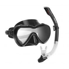 Dry Snorkel Mask Set Snorkeling Gear Foldable Dry Snorkel Set With Dry Wet Switc
