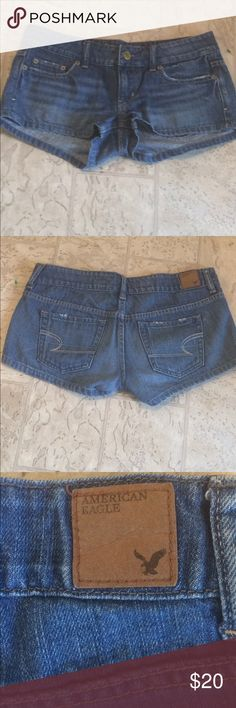 """American Eagle shorts size 2 This is a very nice pair of American Eagle shorts size 2 dimensions are waist 33 1/2 inseams 2"""" length 8 1/2 rise 5"""". American eagle Jeans"""
