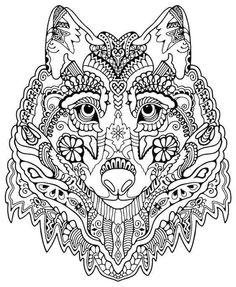 Coloriage Adulte Loup.44 Meilleures Images Du Tableau Coloriage Adulte Loup Et Renard