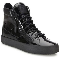 Giuseppe Zanotti Zipper-Accented High-Top Sneakers : Giuseppe Zanotti... ($730) ❤ liked on Polyvore featuring men's fashion, men's shoes, men's sneakers, apparel & accessories, black, mens zipper shoes, giuseppe zanotti mens sneakers, mens high top sneakers, mens black shoes and mens lace up shoes