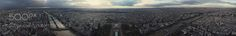 Panorama of Paris after the storm by zheltikov