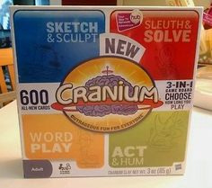 Hasbro Cranium 3 in 1 board game Sketch Solve Act Hum Word play 2012 SEALED