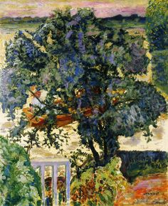 Pierre Bonnard Tree by the River 1909 Painting - oil on canvas Height: 102 cm in. Pierre Bonnard, Paul Gauguin, Edouard Vuillard, Manet, Landscape Art, Landscape Paintings, Garden Painting, Painting Art, Illustration