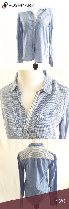Abercrombie & Fitch Button Down Sz S Casual, cute and fun Abercrombie & Fitch Button Down top. Size small. 99% cotton 1% elastane for a super soft feel. EUC. Pairs great with cut off shorts or white Capri Pants. Abercrombie & Fitch Tops Button Down Shirts