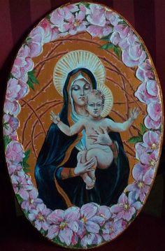 Madonna col Bambino e fiori