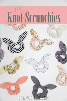 How to Make Scrunchies - Learn how to sew DIY Knot Scrunchies with this free printable pattern! Makes the perfect DIY gift and accessory! diy crafts How to Make Knot Scrunchies - With Free Pattern + Video Tutorial Easy Sewing Projects, Sewing Projects For Beginners, Sewing Hacks, Sewing Tutorials, Sewing Crafts, Sewing Tips, Diy Gifts Sewing, No Sew Projects, Cute Diy Projects