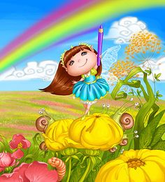 0_facc3_2897d36b_orig (428x472, 321Kb) Cute Cartoon Girl, Doodle Coloring, Baby Fairy, Gif Animé, Flower Fairies, Wallpaper Pictures, Whimsical Art, Cute Illustration, Kids Cards
