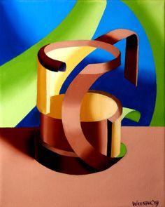 "Futurist Abstract Beer Mug. 10x8"" Oil on Canvas. http://markadamwebster.com/workszoom/430721"